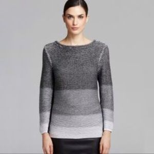 Helmut Lang Plaited Degrade Knit Sweater